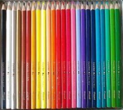 Caixa de Lápis de Cor - 24 cores -  nomeada